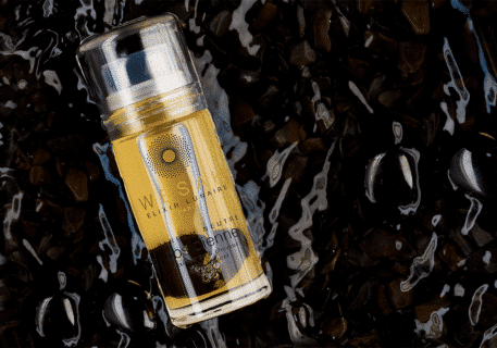 Elixir lunaire obsidienne wesak paris 50ml parfum neutre avec roll-on pierre obsidienne et pierre gemme d'obsidienne infusée