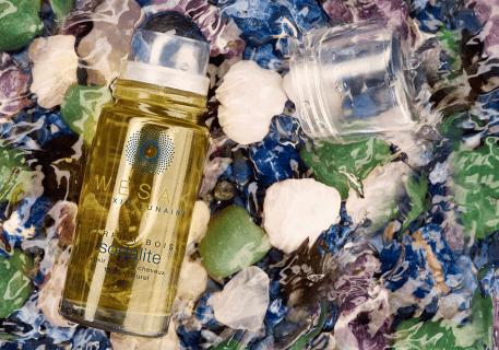 Elixir lunaire sodalite wesak paris 50ml parfum boisé avec roll-on pierre sodalite et pierre gemme de sodalite infusée