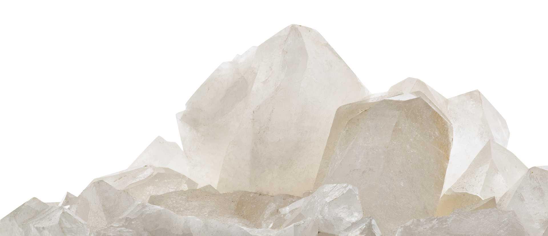 divers cristaux de roche
