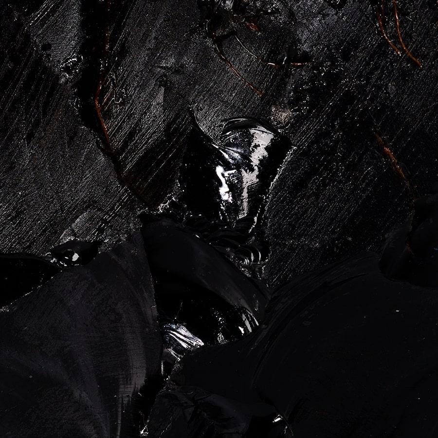 macro cristal obsidienne